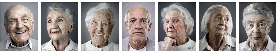 Portraits des personnes âgées